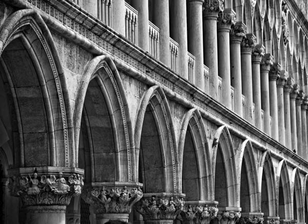 archways black and white photography
