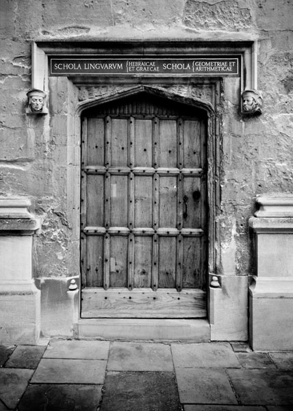 bodleian black and white photography