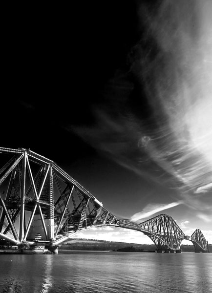 forthbridge2  -  black and white photography for sale