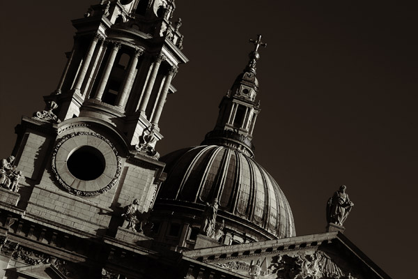 stpaulsdome  -  black and white photography for sale