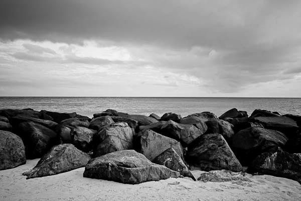 rocks black and white photography
