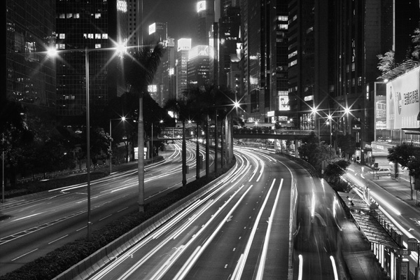 Nightinwanchai black and white photography