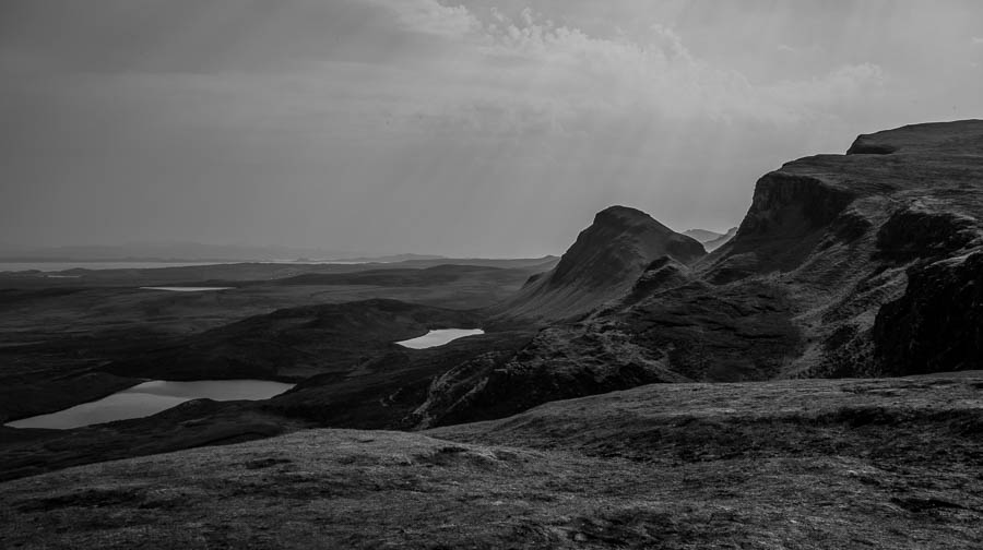 quiraing black and white photography