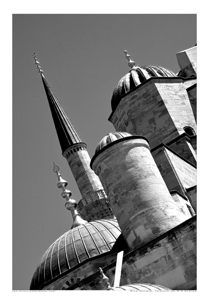 bluemosque2  -  black and white photography for sale