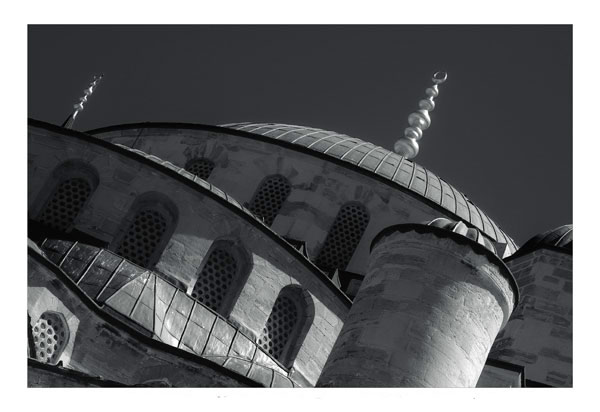 bluemosque3  -  black and white photography for sale