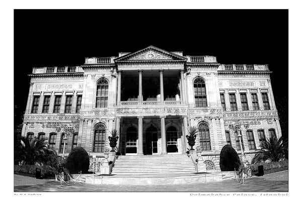 dolmabahce  -  black and white photography for sale