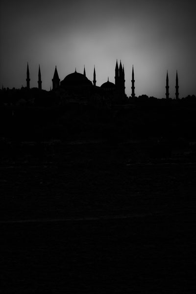silhouettebluemosque  -  black and white photography for sale