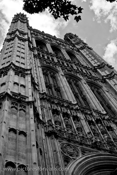 palaceatwestminster black and white photography