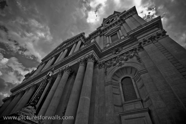 stpaulsfront black and white photography