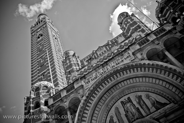 westminstercathedral black and white photography