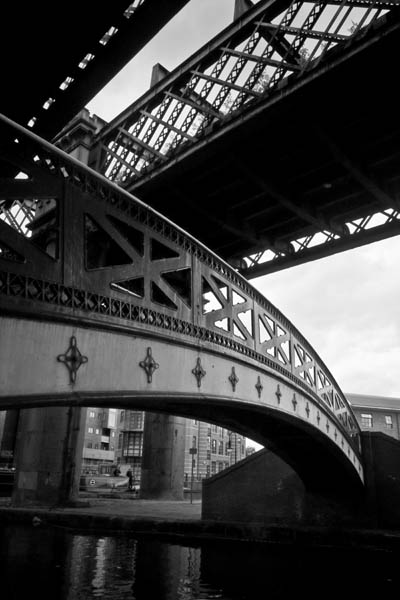 Castlefieldbridges black and white photography