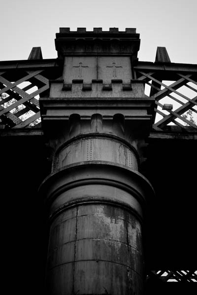 ironwork black and white photography