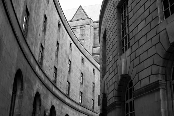 threebuildings black and white photography