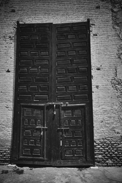 gate black and white photography