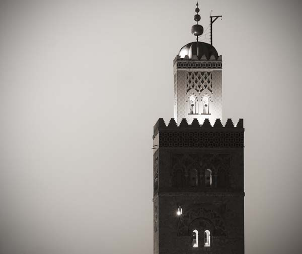 koutoubia black and white photography