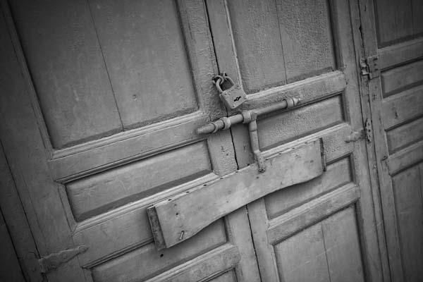 lockedgate black and white photography