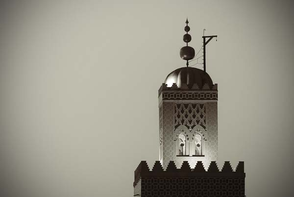 marrakeshmosque black and white photography