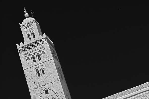 minaretofkoutoubia black and white photography