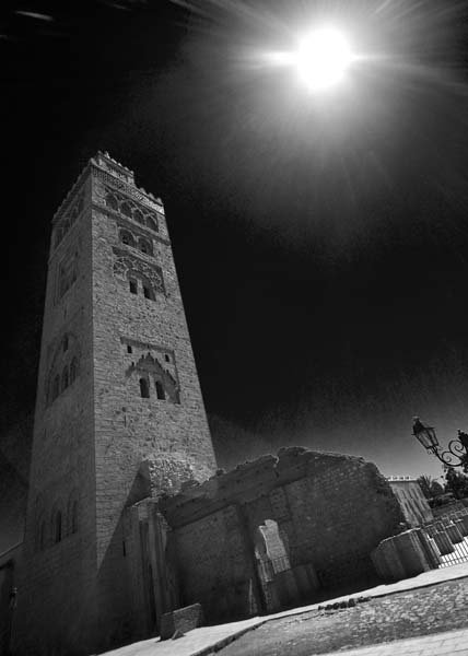 mosquedelakoutoubia black and white photography