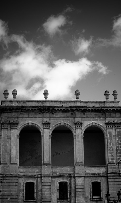 palautorresaura - Beautiful Spanish colonial architecture, Menorca - black and white photography