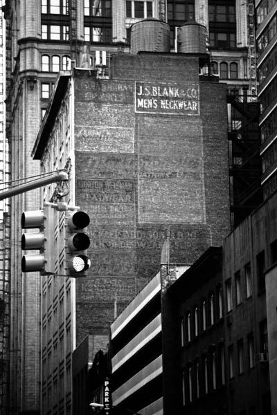 light - Somewhere in the middle of Manhattan. This image was taken in 2009. - black and white photography