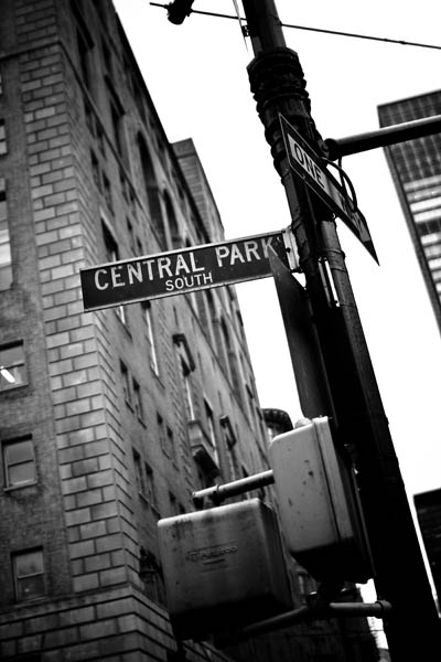 Centralpark black and white photography
