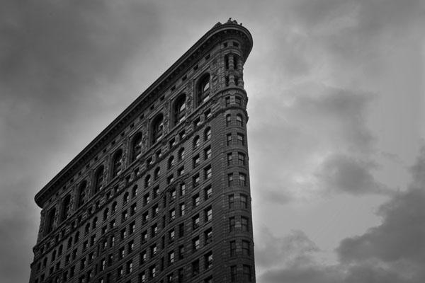cornerofflatiron black and white photography