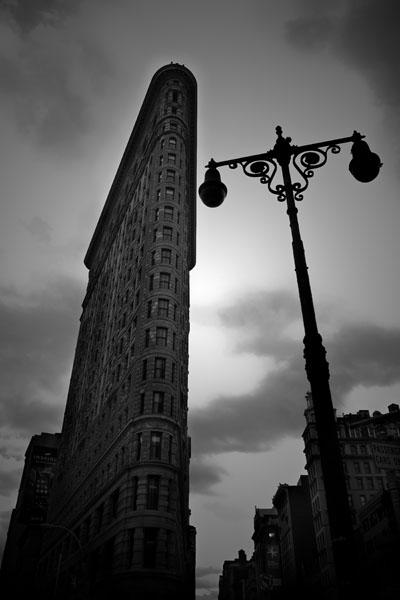 flatiron black and white photography
