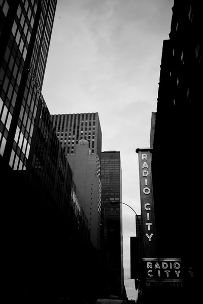 radiocity black and white photography