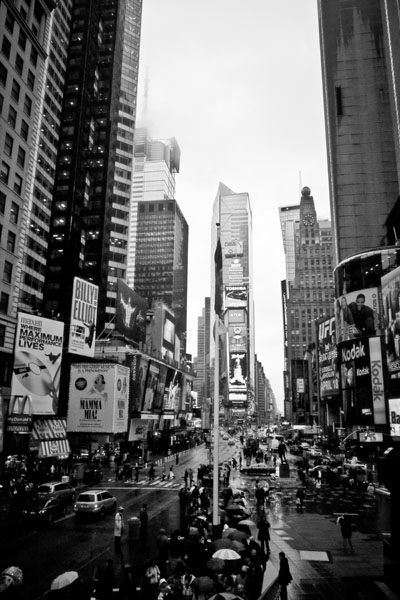 timessquare black and white photography