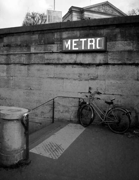 bikeortrain black and white photography
