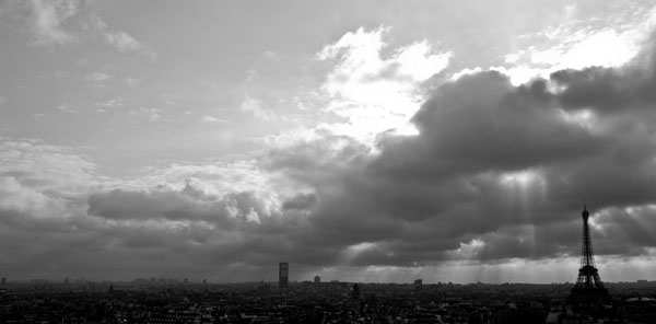 skylineofparis2 black and white photography