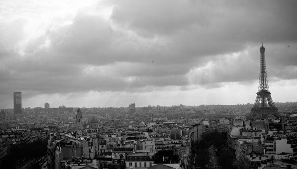 acrossparis2  -  black and white photography for sale