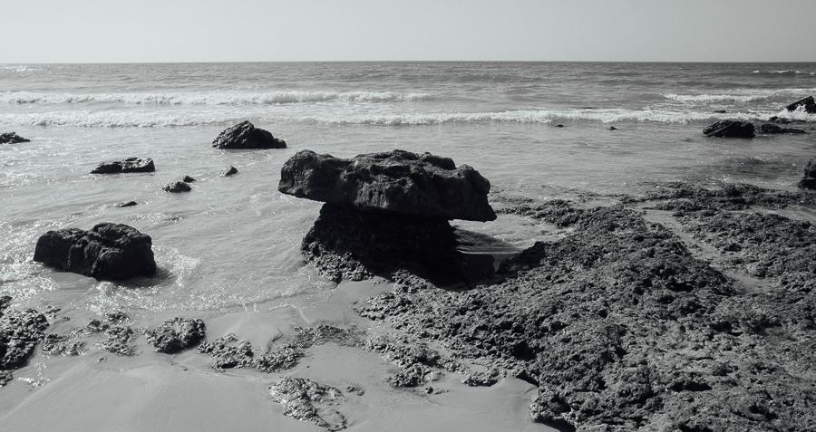 mushroomrock - Mushroom shaped rock - black and white photography