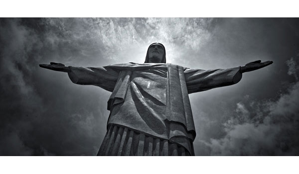 christ black and white photography