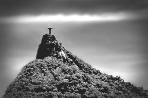 corcovadopeak black and white photography
