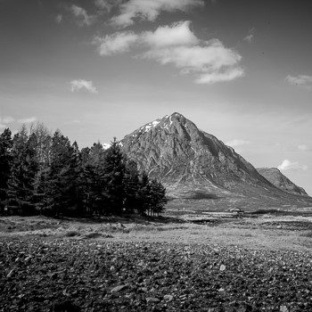 scottishhighlands black and white photo
