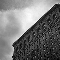 belowflatiron - black and white photography for sale