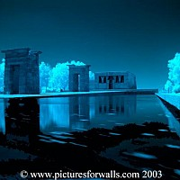 apollo - Ebod Temple, Madrid Reflections on water -  photograph for sale