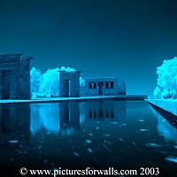 apollo2 - Ebod Temple, Madrid Reflections on water Number 2 -  photograph for sale