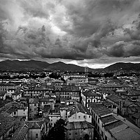 inlucca - View across Lucca -  print for sale