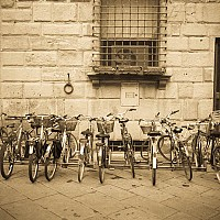 luccabikes1 - Street Scene Lucca -  print for sale