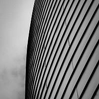 abstractatuni - Once upon a time, the Maths tower stood on this spot on Oxford Road. That is long since gone and in its place is this building. This photograph explores the abstract shapes of the modern design. -  print for sale