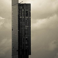beethamtower - The Beetham Tower is the tallest building in the city and is the ninth tallest building in the UK. It was completed in 2006 and contains a hotel as well as other private residences -  print for sale