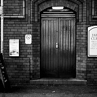 jabezclegg - Jabez Clegg Nightclub, Manchester. A popular haunt for students at the University, the nightclub takes its name from a character in a novel by Isabella Varley Banks, The Manchester Man.  -  print for sale