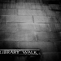 librarywalk - This photograph was taken in 2009. Manchester owes much of its heritage to the industrial revolution and the introduction of cotton. Many of the great buildings around the city were built when Manchester was known as Cottonopolis. -  print for sale