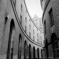 passage - This photograph shows the area around the Town Hall and the Central Library. -  print for sale