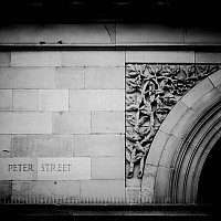 peterstreet - Peter Street is the location of the Free Trade Hall. From here, The GMEX, Deansgate, Oxford Street, Albert Square and the Town Hall are a 5 minute walk. -  print for sale