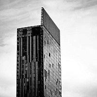 sentinel - The glass and steel of the Beetham Tower.  -  print for sale
