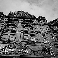 themidland - The Midland Hotel is a grand city centre hotel in Manchester. On May 4th 1904, Charles Rolls and Henry Royce met in this hotel and a motoring giant was born. The hotel retains much of its charm today. -  print for sale
